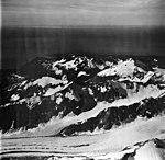 Palma Glacier and Palma Bay, junction of valley glacier, and hanging glaciers, September 12, 1973 (GLACIERS 5761).jpg