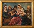 Palma il vecchio (bottega), madonna col bambino tra i ss. caterina, francesco, giovanni battista e nicola, 1528 ca.jpg