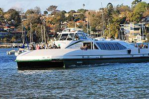 Merinda–Pam Burridge collision - Image: Pam Burridge Harbour Cat (22219041826)