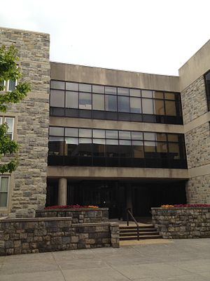 Virginia Tech Pamplin College of Business - Pamplin Hall on the Main Campus where undergraduate, graduate, and doctoral students typically have classes.