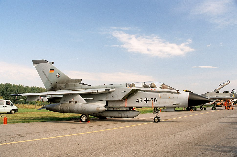 Panavia Tornado IDS of Luftwaffe, static display, Radom AirShow 2005, Poland.jpg