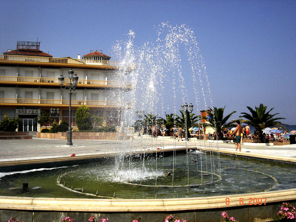 Paralia pieria fountain
