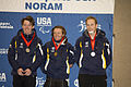 Paralympic Alpine Skiers, Toby Kane, Mitchell Gourley and Cameron Rahles Rahbula on the podium.jpg