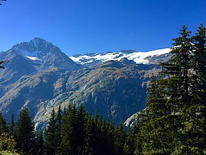 Vanoise massif - The Arpont-Chasseforêt glacier is the main glacier in the Vanoise National Park