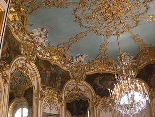 Lo splendido Salone ovale dell Hôtel de Soubise di Parigi .