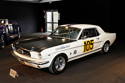 Ford Mustang GT350 of the 1965 Ford France team. Paris - RM Auctions - 5 fevrier 2014 - Ford Mustang 289 Racing Car - 1965 - 002.jpg