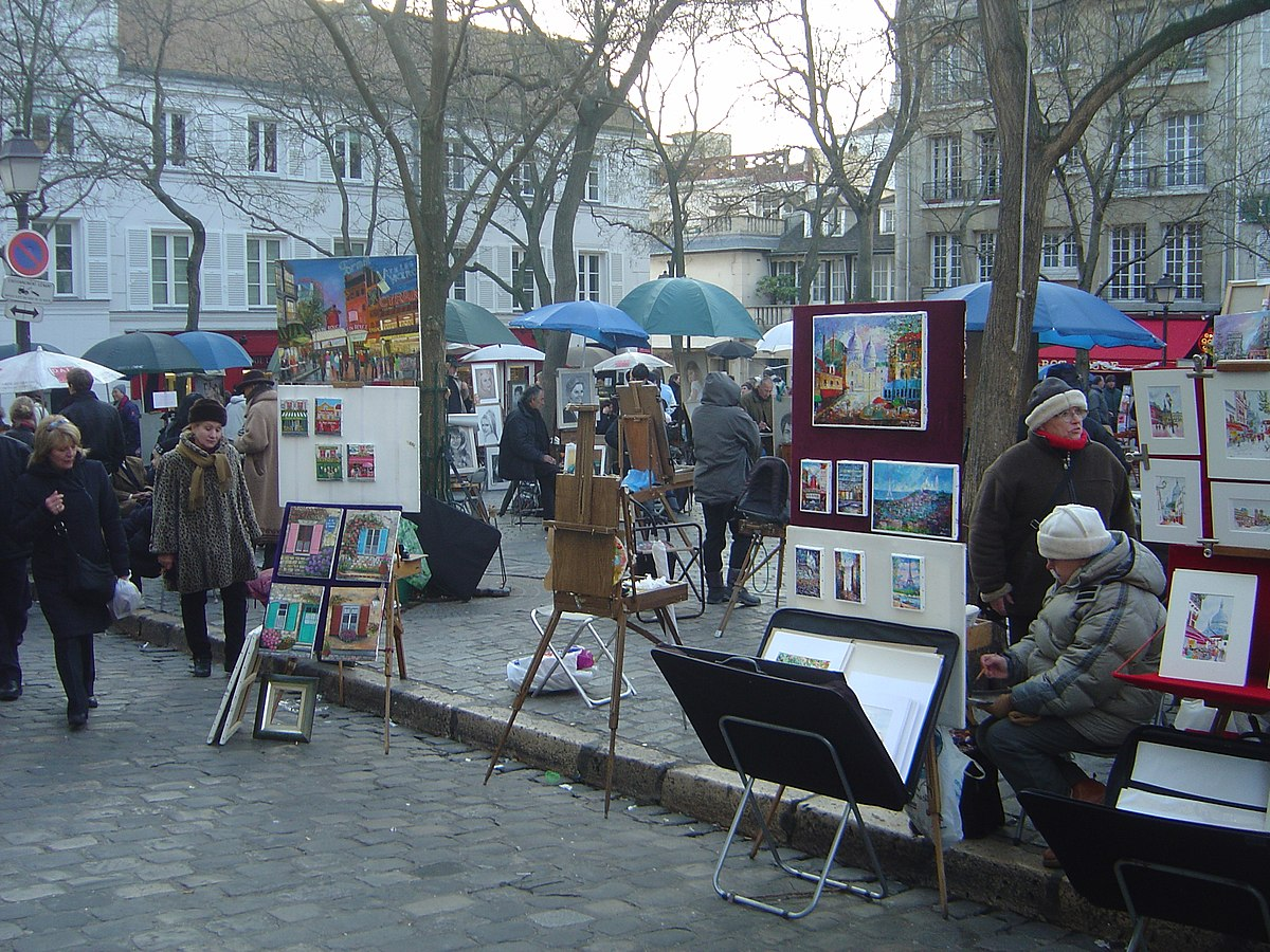 place du tertre wikip dia. Black Bedroom Furniture Sets. Home Design Ideas
