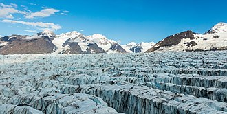 Glacier - Aerial view of a glacier in Chugach State Park, Alaska, United States.