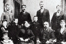 The Parrott family, all members unidentified.