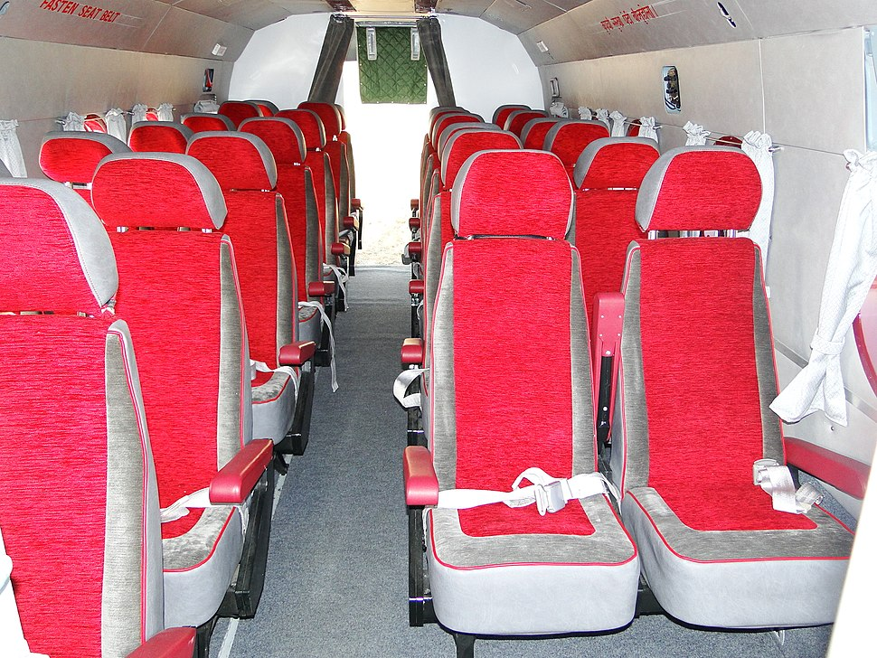 Passenger cabin of Shree Airlines Helicopter