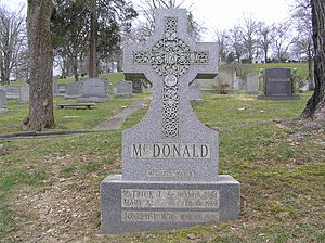 Pat McDonald (athlete) - The tombstone of Pat McDonald in Gate of Heaven Cemetery