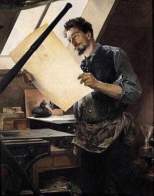 Félicien Rops - Felicien Rops in his Studio by Paul Mathey
