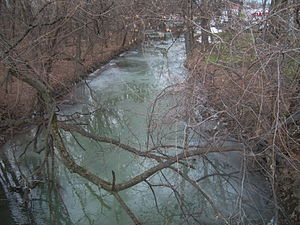 Paxton Creek - View of Paxton Creek from Maclay Street in Harrisburg, Pennsylvania, near the Pennsylvania Farm Show.