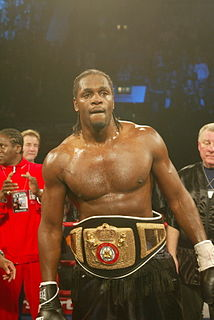 Audley Harrison English boxer