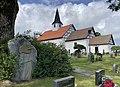 Per Deberitz (Norwegian painter 1880-1945) Minnestøtte (grave stone memorial) Den store maleren Den kjære vennen Borre kirke (medieval church) Horten, Norway 2021-07-08 IMG 8099.jpg