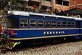 Perurail Vistadome car in Aguascalientes, Perú.jpg