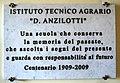 Pescia, Istituto Tecnico Agrario Dionisio Anzilotti, lapide 02.jpg