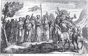 Gaetano Zompini - Petrarch's Triumph of Chastity