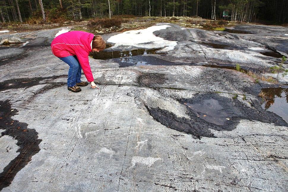 Petroglyphs in Zalavruga, Belomorsk, Karelia, Russia 03