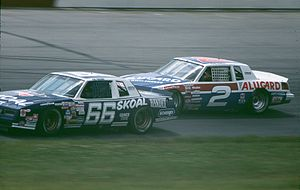 Rusty Wallace - Wallace in the No. 2 (background) in 1985