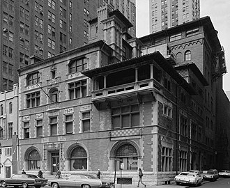 Art Club of Philadelphia - The Philadelphia Art Club's building at 220 S. Broad Street. Designed by architect Frank Miles Day, built 1889-90, demolished 1975-76.