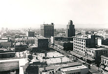 Photo of the skyline of downtown Phoenix circa 1940