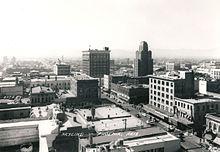 Foto do horizonte do centro de Phoenix por volta de 1940
