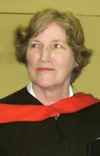 Stevie Cameron - Cameron receiving an honorary Doctorate of Divinity from Vancouver School of Theology in 2004
