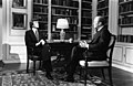Photograph of NBC White House Correspondent Tom Brokaw Interviewing President Gerald R. Ford in the White House Library for a Special NBC Broadcast on American Foreign Policy.jpg