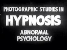 Fichier:Photographic Studies in Hypnosis, Abnormal Psychology (1938).ogv