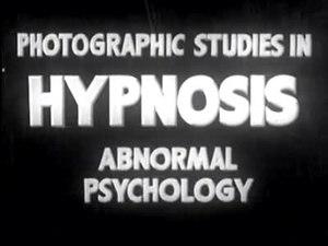 Файл:Photographic Studies in Hypnosis, Abnormal Psychology (1938).ogv