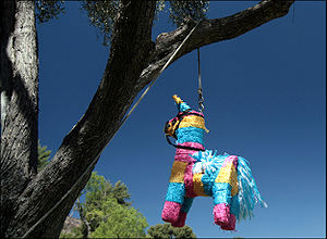 Viva Piñata - Rare decided on the game's animal and gardening motif before adding the piñata (pictured) theme.
