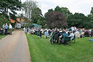 Langar, Nottinghamshire - Image: Picnics on the lawn geograph.org.uk 926682