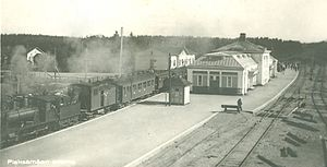 Pieksämäki railway station - The original station building and restaurant in a 1925 postcard.
