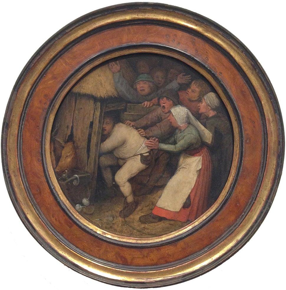 Pieter Bruegel the Elder - 1557 - A Pig Has To Go in a Sty