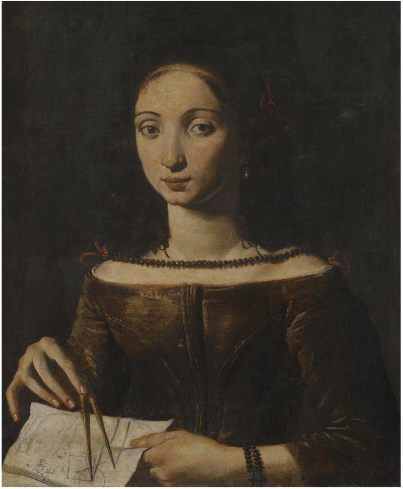 Pietro Paolini - Una joven sostiene un compass.jpg