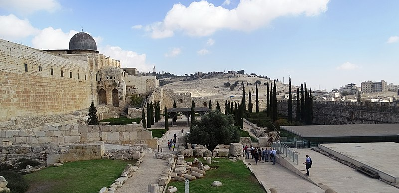 ירושלים הר הזיתים ומסגד אל אקצא