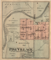 Pine Village Indiana map from 1877 atlas.png