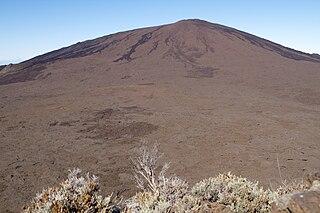 Piton de la Fournaise Volcano on the French oversea department La Réunion