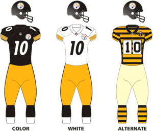 huge discount 63a6a 7a1e9 Logos and uniforms of the Pittsburgh Steelers - Wikipedia