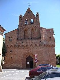 Plaisance-du-Touch (Haute-Garonne, Fr) église, façade et clocher.JPG