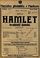 Plakat za predstavo Hamlet kraljevič danski v Narodnem gledališču v Mariboru 30. maja 1925.jpg