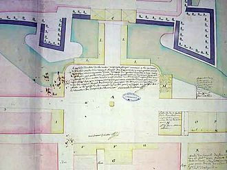 Place Stanislas - Plan of the square, 1752