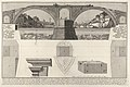 Plan and elevation of the Pons Fabricius (also known as the Quattro Capi Bridge), Rome, from the series 'Le Antichità Romane' MET DP831925.jpg