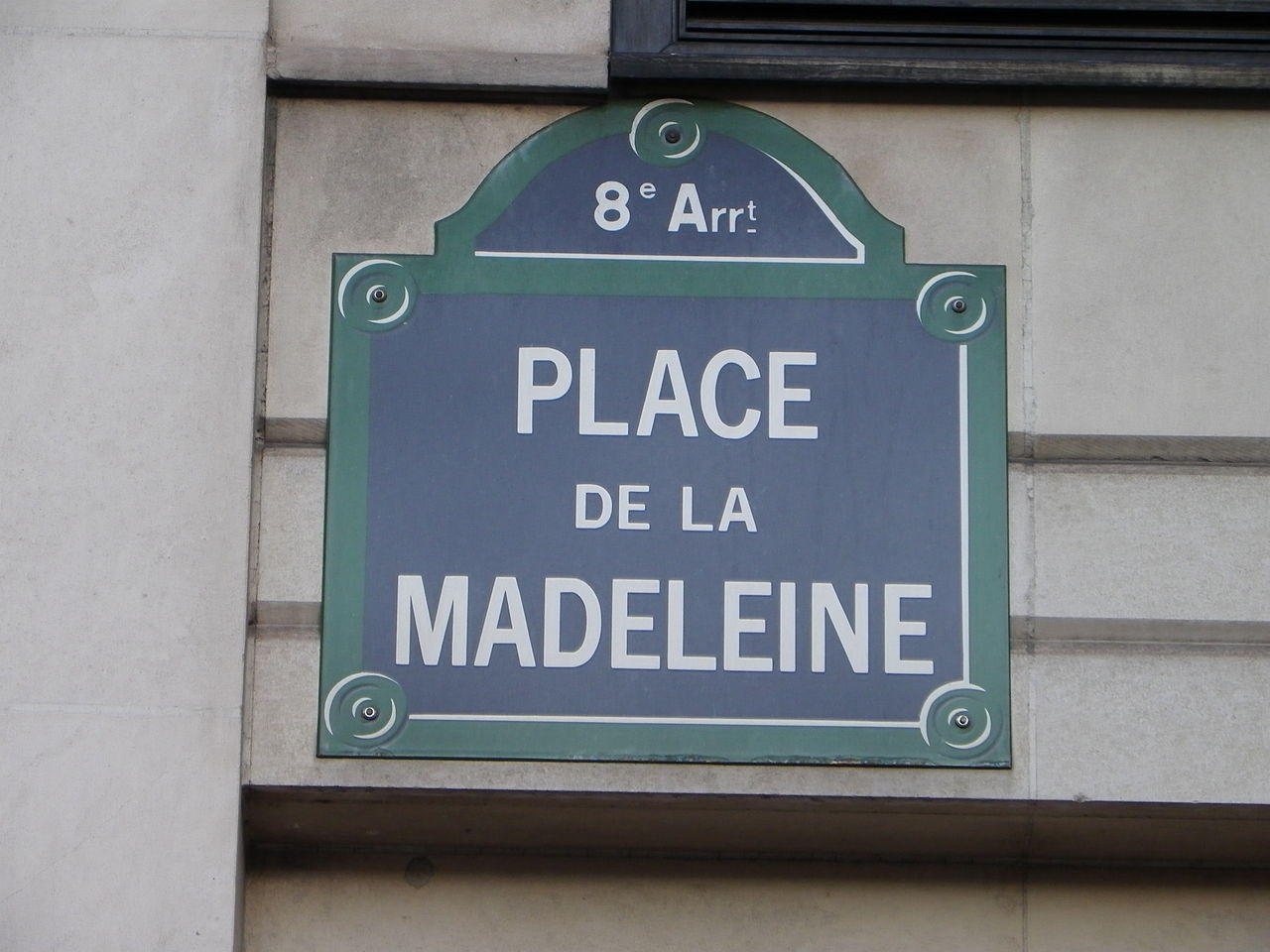 file plaque place de la madeleine paris jpg wikimedia commons. Black Bedroom Furniture Sets. Home Design Ideas