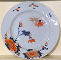 Plate, China, 1730-1740, porcelain with overglaze decoration and gilding - Concord Museum - Concord, MA - DSC05755.JPG