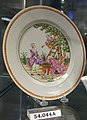 Plate with Cherry Pickers after Pierre-Antoine Baudouin, China, c. 1780, porcelain, overglaze enamels, gilt, HD 54.044A - Flynt Center of Early New England Life - Deerfield, Massachusetts - DSC04801.jpg