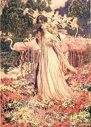 Eleonora (short story) - Illustration by Byam Shaw for a London edition dated 1909