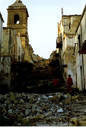 1968 Belice earthquake - The ruins of Poggioreale pictured in 2003
