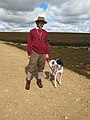 Pointer and owner on Bollihope Moor - geograph.org.uk - 510469.jpg